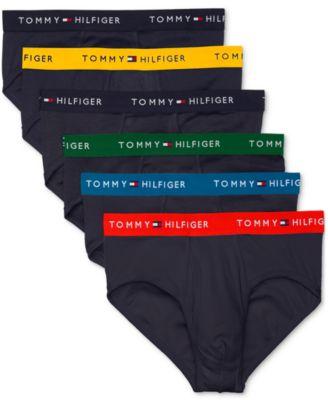 타미 힐피거 Tommy Hilfiger Mens 6-Pk. Cotton Classics Briefs,Navy Multi