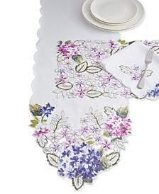 Spring Hydrangea Cutwork Table Linen Collection