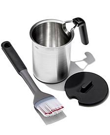 Grilling 3-Pc. Basting Pot & Brush Set