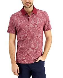 Men's Supima® Blend Regular-Fit Paisley-Print Polo Shirt, Created for Macy's