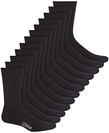 Men's Solid Crew Socks - 12-Pack, Created for Macy's