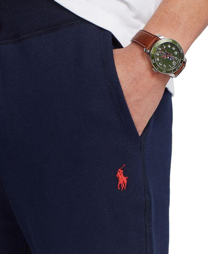 Polo Ralph Lauren Men's Cotton-Blend-Fleece Pants & Reviews - Pants - Men - Macy's
