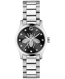 Women's Swiss G-Timeless Iconic Diamond (1/20 ct. t.w.) Stainless Steel Bracelet Watch 27mm