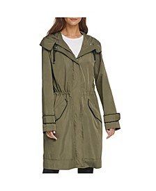 Camo-Lined Anorak Rain Coat