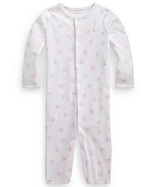 Ralph Lauren Baby Girls Printed Cotton Coverall