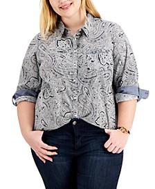 Plus Size Paisley Shirt