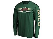 Minnesota Wild Men's Halftone Long Sleeve T-Shirt