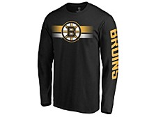 Boston Bruins Men's Halftone Long Sleeve T-Shirt