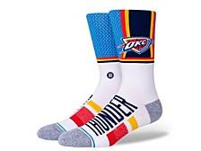 Men's Oklahoma City Thunder Shortcut 2 Crew Socks