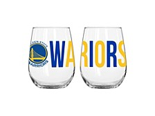 Golden State Warriors 16oz. Curved Glass