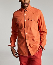 Men's Jacob Regular-Fit Textured Western Shirt, Created for Macy's