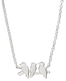 "Unwritten Mini Bird Pendant Necklace in Sterling Silver, 16"" + 2"" extender"