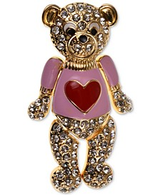 Pavé & Epoxy Love Bear Pin, Created for Macy's