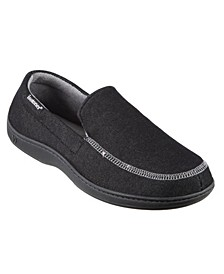 Men's Twill Chandler Moccasin Slippers with Memory Foam