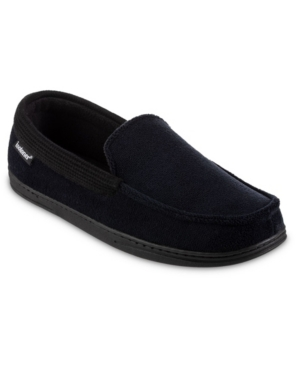 Signature Men's Microterry and Waffle Travis Moccasin Slippers