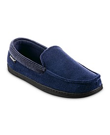 Men's Microterry and Waffle Travis Moccasin Slippers