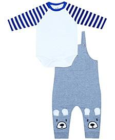 Organic Baby Boy 2-Piece Jack Overall Set
