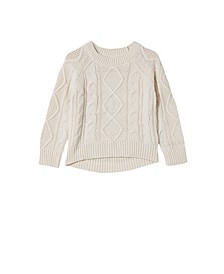 Toddler Girls Annie Cable Knit Jumper Sweater