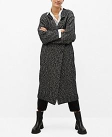 Women's Striped Cotton Coat