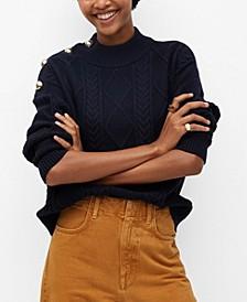 Women's Decorative Button Sweater