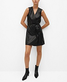 Women's Faux-Leather Dress