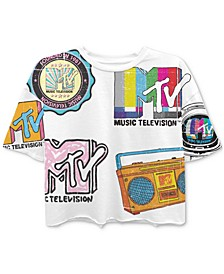Juniors' MTV-Print T-Shirt