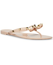 Women's Deevan Studded Bow Jelly Sandals