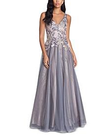 Appliqué Gown