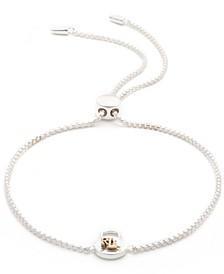 Padlock Logo Bolo Bracelet in Sterling Silver & 18k Gold-Plate