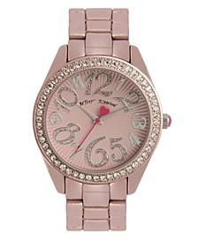 Women's Color Spray Light Pink Metal Bracelet Watch 40mm