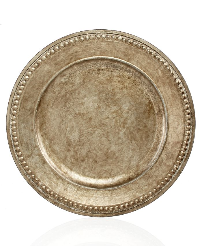 American Atelier - Jay Imports Antique Silver Bead Edge Charger Plate