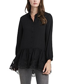Women's Peplum Tunic with Lace