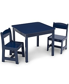 Mysize Wood Table and Chairs Set, 3 Piece