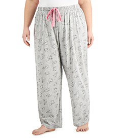 Plus Size Printed Pajama Pants, Created for Macy's