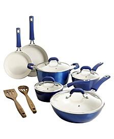Arlington Ceramic Coated Non-Stick 12 Piece Cookware Set