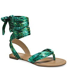 Joleyn Scarf Tie Flat Sandals, Created for Macy's