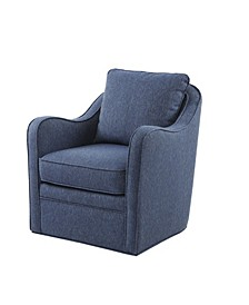 Madison Park Brianne Slub Weave Wide Seat Swivel Arm Chair