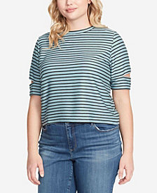 Skinnygirl Women's Plus Size Kate Back Lace-Up Top