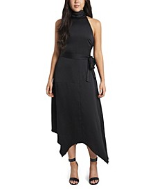 Women's Mock Halter Neck Sleeveless Dress