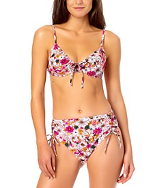 Juniors' Floral Bikini Top & Side-Tie Bottoms, Created for Macy's