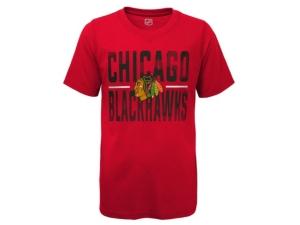 Outerstuff T-shirts YOUTH CHICAGO BLACKHAWKS HUSTLE T-SHIRT