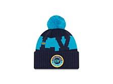 Super Bowl LV Tampa Circle Patch Pom Knit Hat
