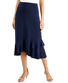 Solid Ruffled Midi Skirt, Created for Macy's