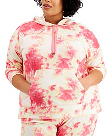 Plus Size Tie-Dyed Hoodie, Created for Macy's