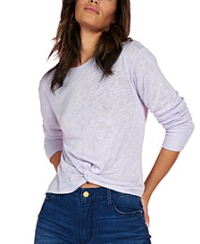 Knotted Long-Sleeve T-Shirt