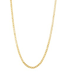 "Polished 22"" Curb Chain in Solid 10K Yellow Gold"