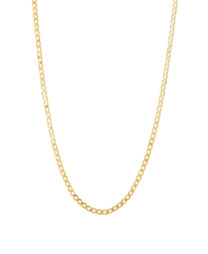 """Polished 22"""" Curb Chain in Solid 10K Yellow Gold"""