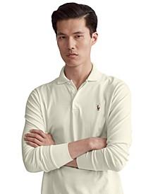 Men's Classic-Fit Long Sleeve Soft Cotton Polo