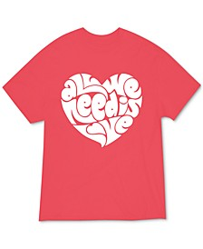 Juniors' All We Need Is Love Graphic-Print T-Shirt