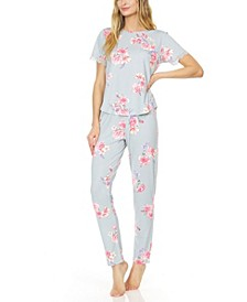 Women's Annette Printed Knit Pajama Set